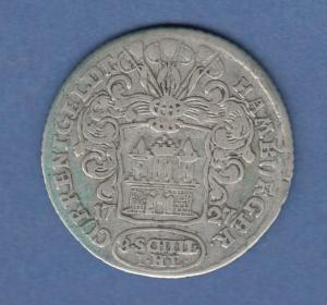 Hamburg 1727 Courantmünze 8 Schilling