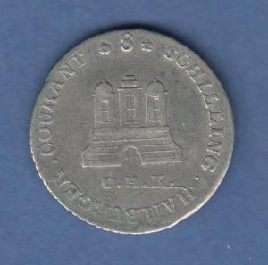 Hamburg 1797 Courantmünze 8 Schilling