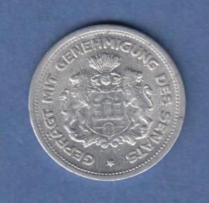 Hamburg 1923 Verrechnungsmünze 1/100