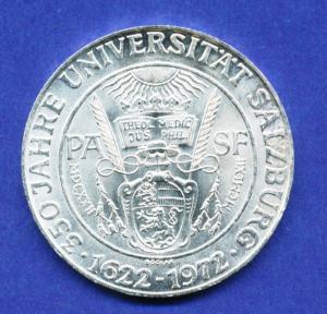 Österreich 50-Schilling Silber-Gedenkmünze 1972, Universität Salzburg