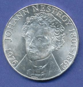 Österreich 100-Schilling Silber-Gedenkmünze 1976, Johann Nestroy