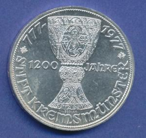 Österreich 100-Schilling Silber-Gedenkmünze 1977, Stift Kremsmünster