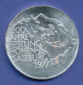 Österreich 100-Schilling Silber-Gedenkmünze 1977, Festung Hohensalzburg
