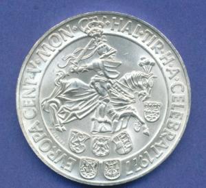 Österreich 100-Schilling Silber-Gedenkmünze 1977, Münzstätte Hall in Tirol