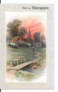 Ansichtskarte Gruss aus Kleinragewitz (bei Oschatz)