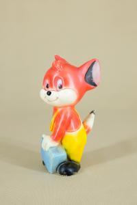 Sammlerfigur FOXI von Rolf Kauka für John Thermoplastic, 1950er