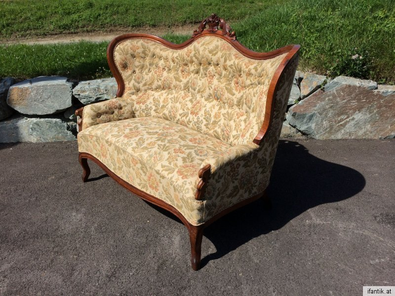 Originales Spätbiedermeier Fledermaus Sofa Diwan Couch  Nr. 6904
