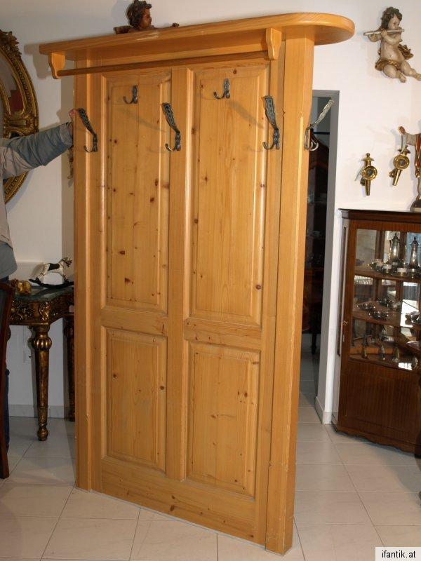 Garderobe naturholz lena massivholz wei k avec garderoben for Garderobe naturholz