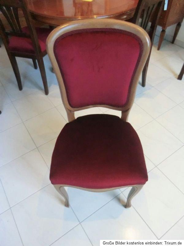 Traumhafter stuhl sessel barockstil restauriert stuhl for Sessel weinrot