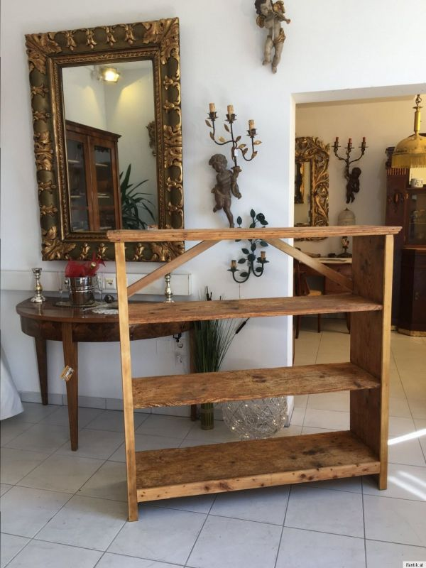 urige alte stellage b cherstellage regal ablage fichte naturholz schrank a1218 nr 401178454541. Black Bedroom Furniture Sets. Home Design Ideas