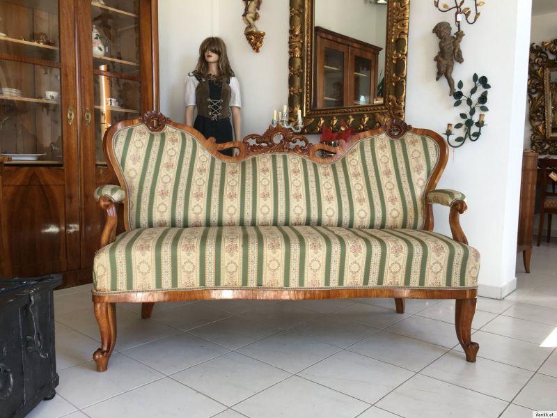 Originalstück Traumstück Gründerzeit Sofa Diwan Couch Liege Fledermaussofa A1381