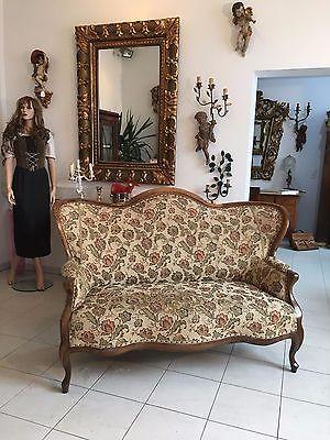 Spätbiedermeier Fledermaus Sofa Diwan Couch Originalstück A1645 1