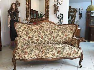 Spätbiedermeier Fledermaus Sofa Diwan Couch Originalstück A1645 2