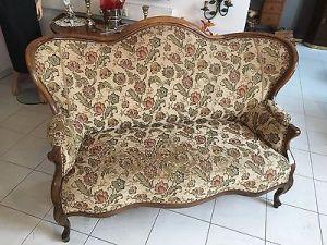 Spätbiedermeier Fledermaus Sofa Diwan Couch Originalstück A1645 3