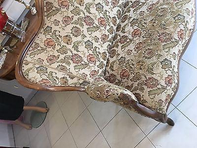 Spätbiedermeier Fledermaus Sofa Diwan Couch Originalstück A1645 4