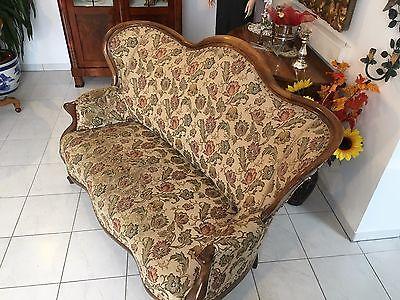 Spätbiedermeier Fledermaus Sofa Diwan Couch Originalstück A1645 6