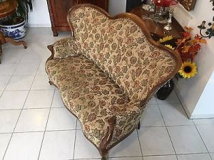 Spätbiedermeier Fledermaus Sofa Diwan Couch Originalstück A1645 7