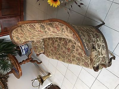 Spätbiedermeier Fledermaus Sofa Diwan Couch Originalstück A1645 9