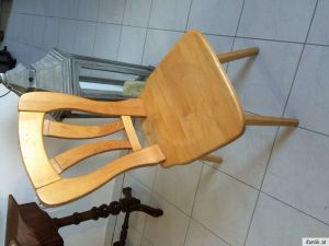 Uriger hübscher bauernsessel Stuhl Naturholz Nr. 3783 2