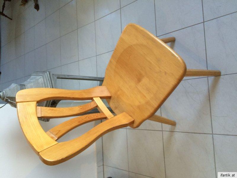 Uriger hübscher bauernsessel Stuhl Naturholz Nr. 3783 6