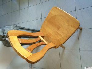 Uriger hübscher bauernsessel Stuhl Naturholz Nr. 3783 8