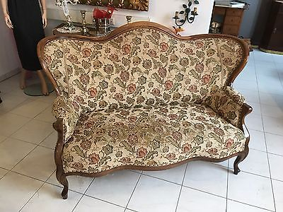 Spätbiedermeier Fledermaus Sofa Diwan Couch Originalstück A1645