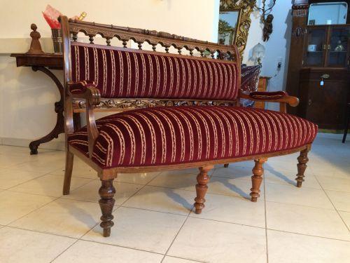 Gründerzeit Sofa Diwan Liege Couch Traum Restauriert - W1287