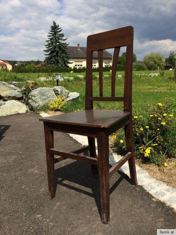 Jugendstil Bauernsessel Bauernstuhl Sessel Naturholz Nr. 6675