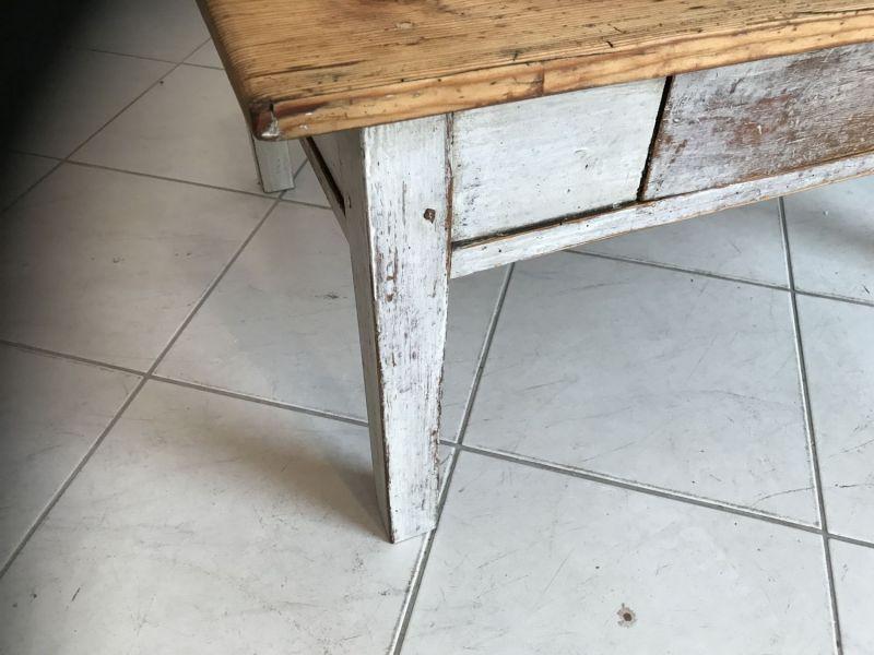Uriger Bauerntisch Beistelltisch Tisch Altholz Couchtisch W2031 2