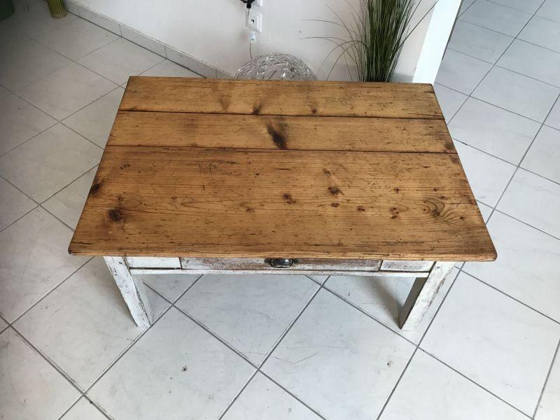 Uriger Bauerntisch Beistelltisch Tisch Altholz Couchtisch W2031 4