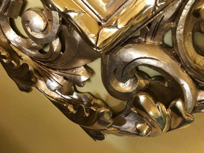 Florentiner Rahmen Spiegel vergoldet Original - W0815