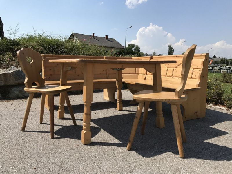 Eckbank Eckbankgruppe Jogltisch Bauernstube Sessel Naturholz ...