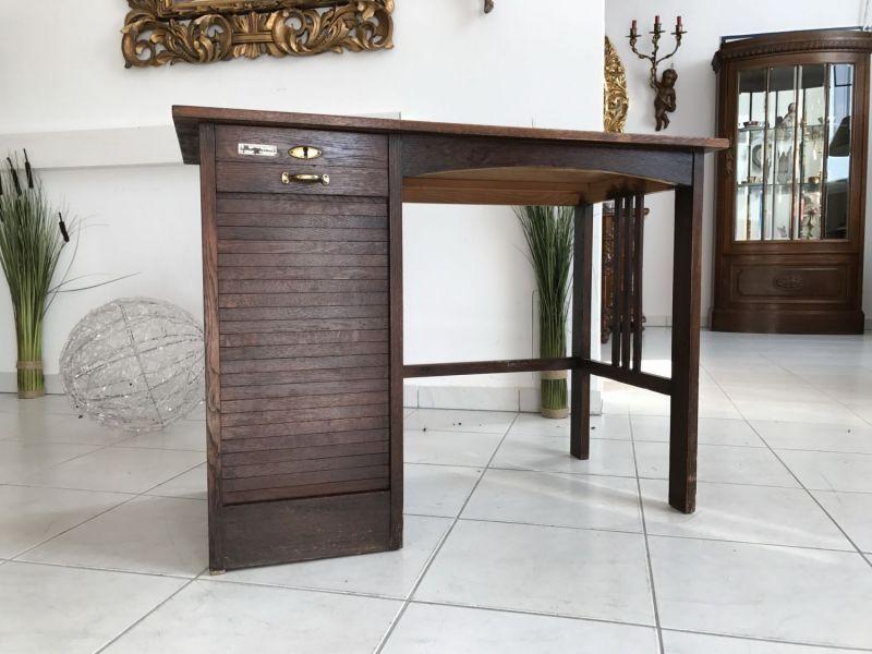 Einfacher Jugendstil Damen Sekretär Freisteher Schreibtisch Stuhl W2091