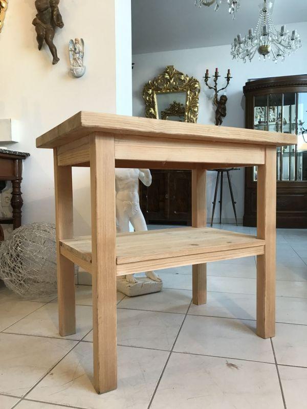 Alter Bauerntisch Beistelltisch Tisch Altholz Beistelltisch W1701