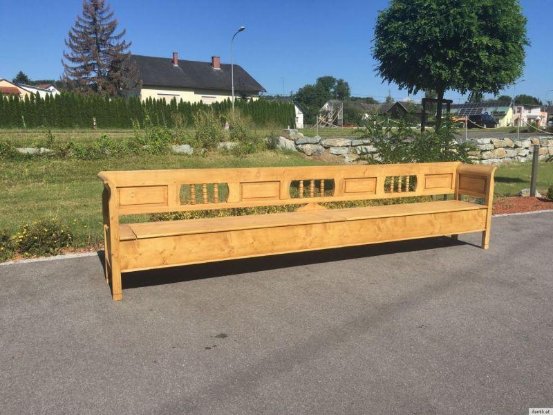 Truhenbank Küchenbank Bauernmöbel Naturholz 4m breite A1327