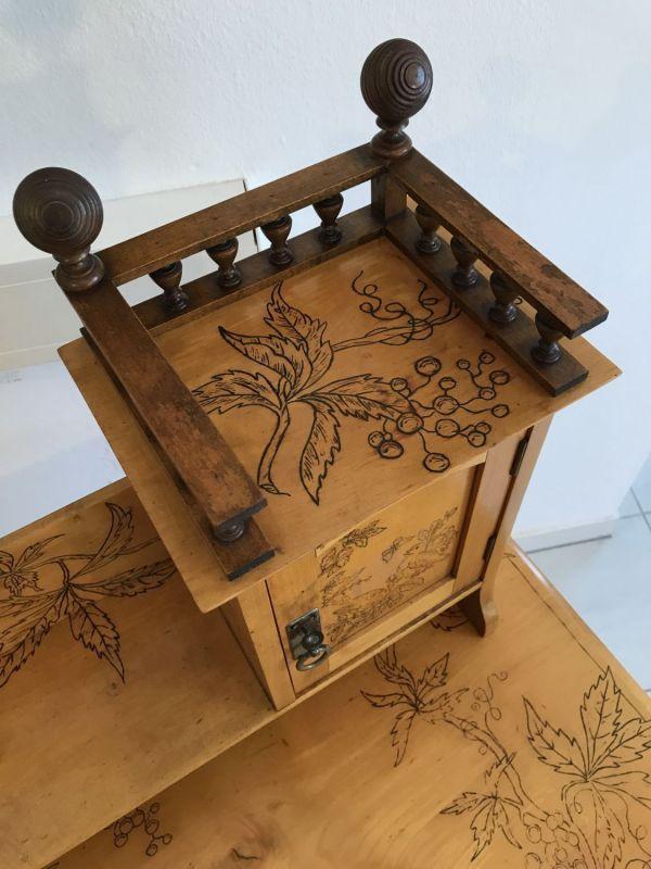 Traum Damenschreibtisch Schreibtisch Historismus mit Stuhl W2242 11