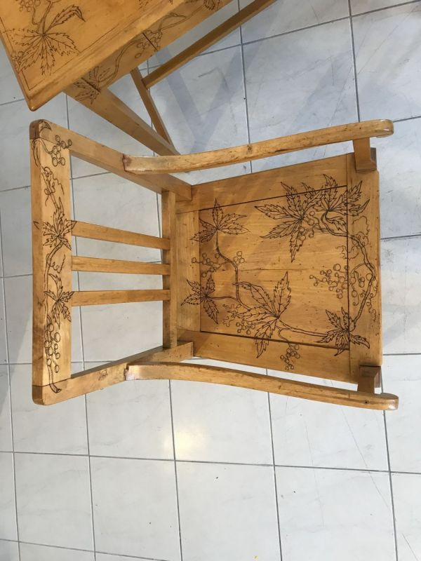 Traum Damenschreibtisch Schreibtisch Historismus mit Stuhl W2242 5