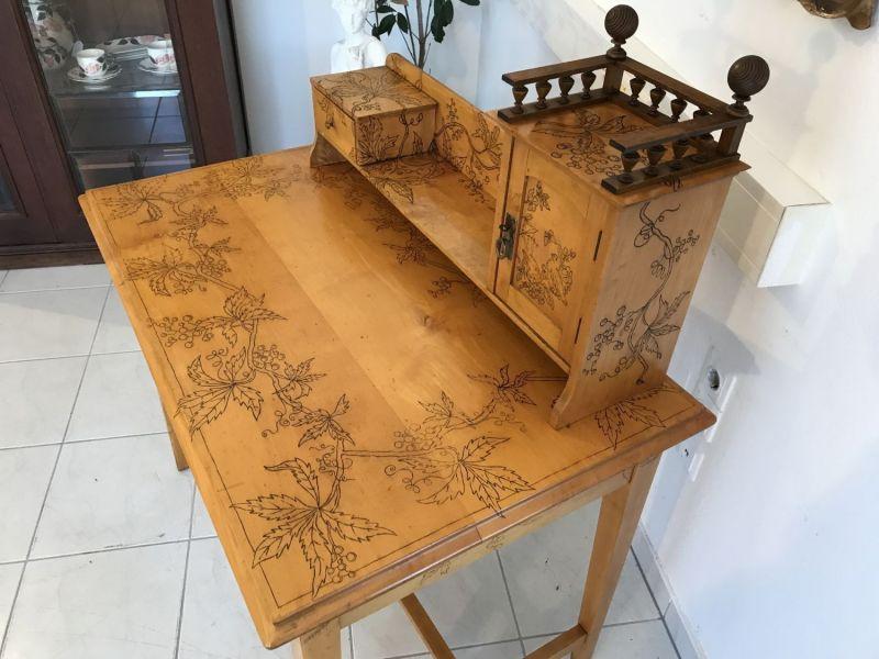 Traum Damenschreibtisch Schreibtisch Historismus mit Stuhl W2242 9