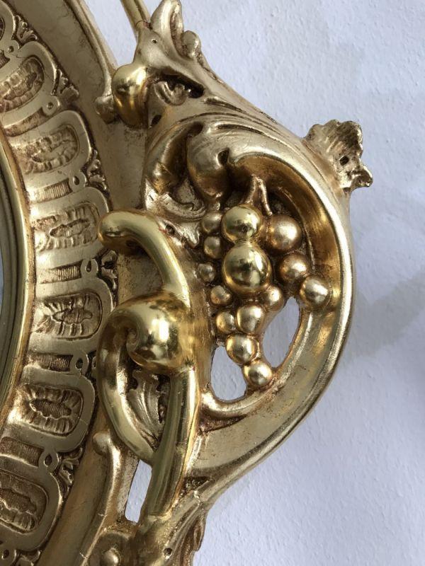Ovaler Florentiner Rahmen Spiegel vergoldet Original - W2114 Nr ...