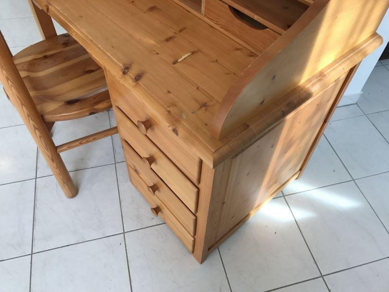 Hübscher neuzeitlicher Schreibtisch mit Sessel , Sekretär mit Stuhl W3066 4