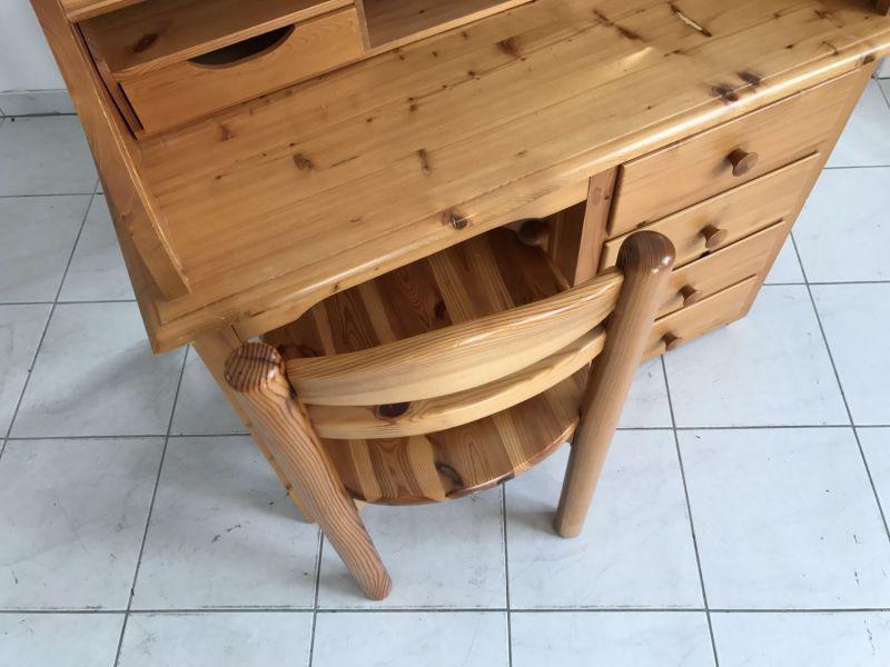 Hübscher neuzeitlicher Schreibtisch mit Sessel , Sekretär mit Stuhl W3066 7
