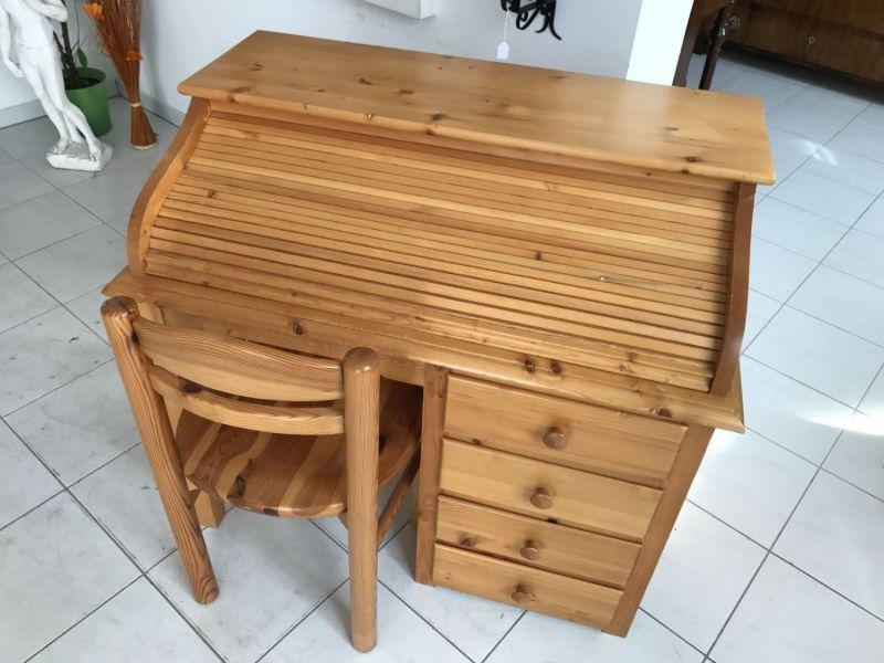 Hübscher neuzeitlicher Schreibtisch mit Sessel , Sekretär mit Stuhl W3066 9