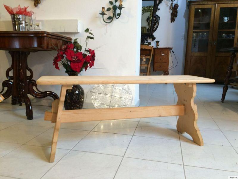 Zierliche Sitzbank Bankerl Fichtenholz Bauernmöbel br 110cm 8681