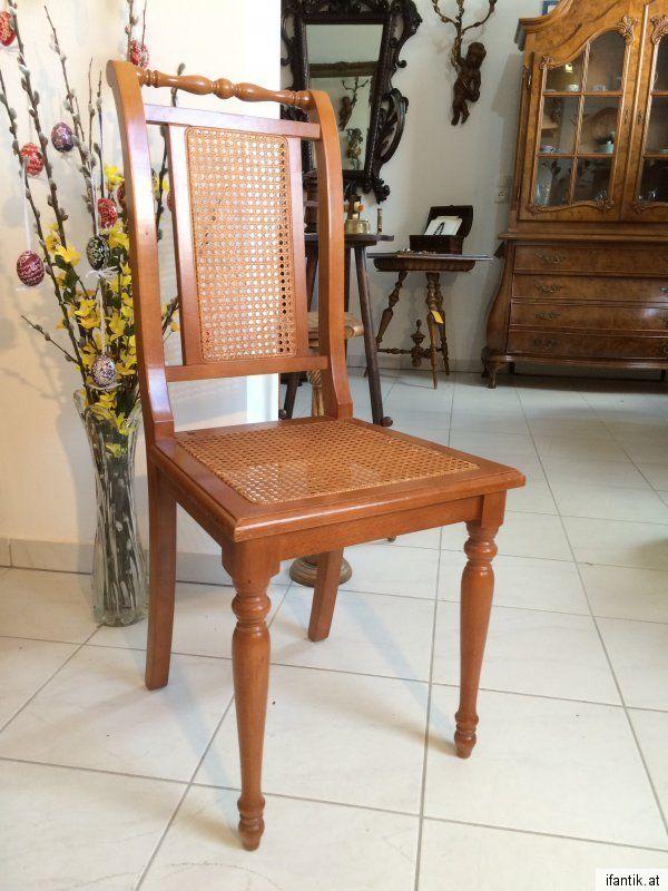 Details zu  hübscher Gründerzeit Sessel Stuhl Rattan FA. Depositato 7621