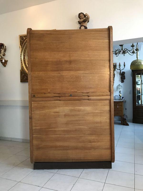 W1510 originaler Rolladenschrank Büroschrank Rolladenkasten Jugendstil-Copy