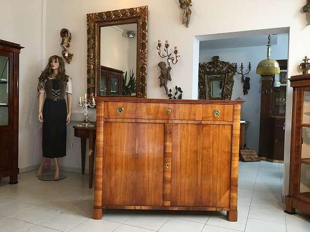 Restauriertes originales Biedermeier Trumeau Anrichte A1647