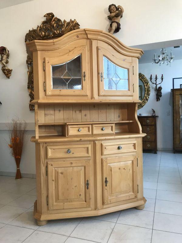 Massives Küchenbuffet Küchenschrank Vitrine Landhausmöbel W3331