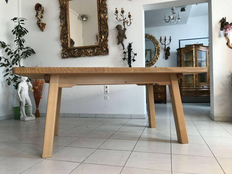 Massiver Tisch Bauerntisch Jogltisch Landhaustisch Eichenholz W3181