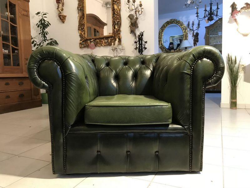 Chesterfield 3er Ensemble Cultmobel Clubsofa Antik Grun Original W3366
