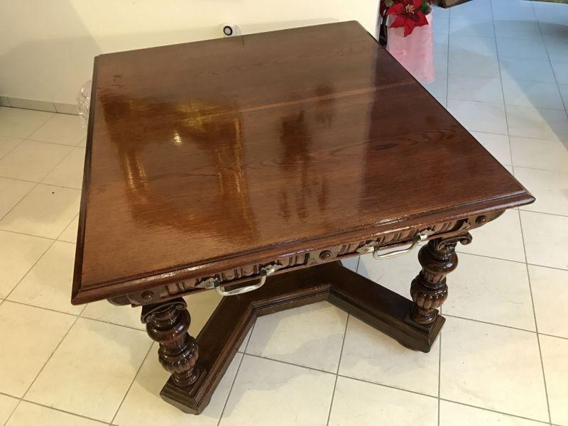 W1392 Speisezimmertisch Tafeltisch Historismus Gründerzeit Restauriert Tisch